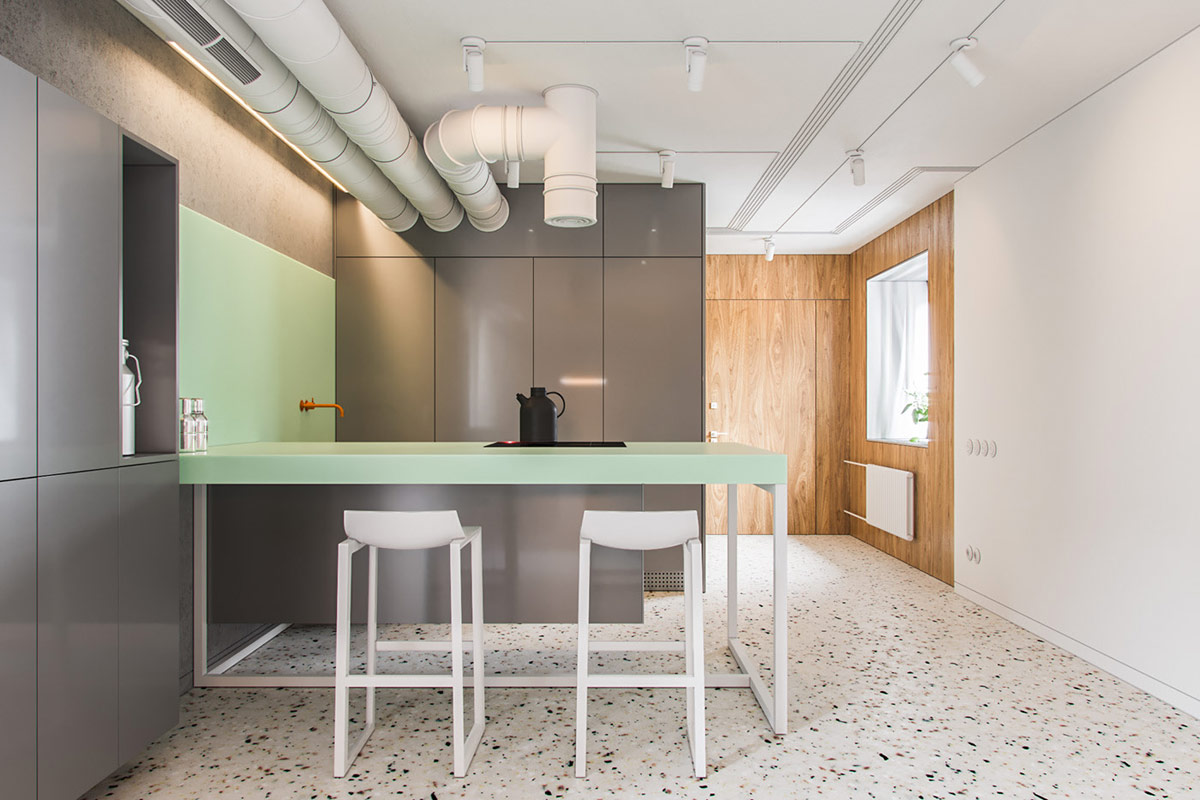 green-and-grey-kitchen