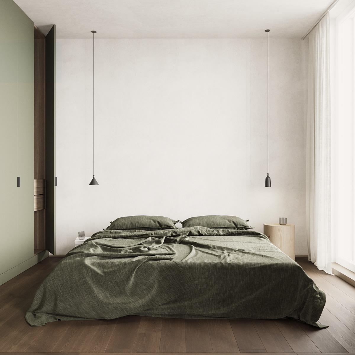 green-bed-set