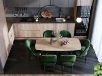 green-dining-table-set