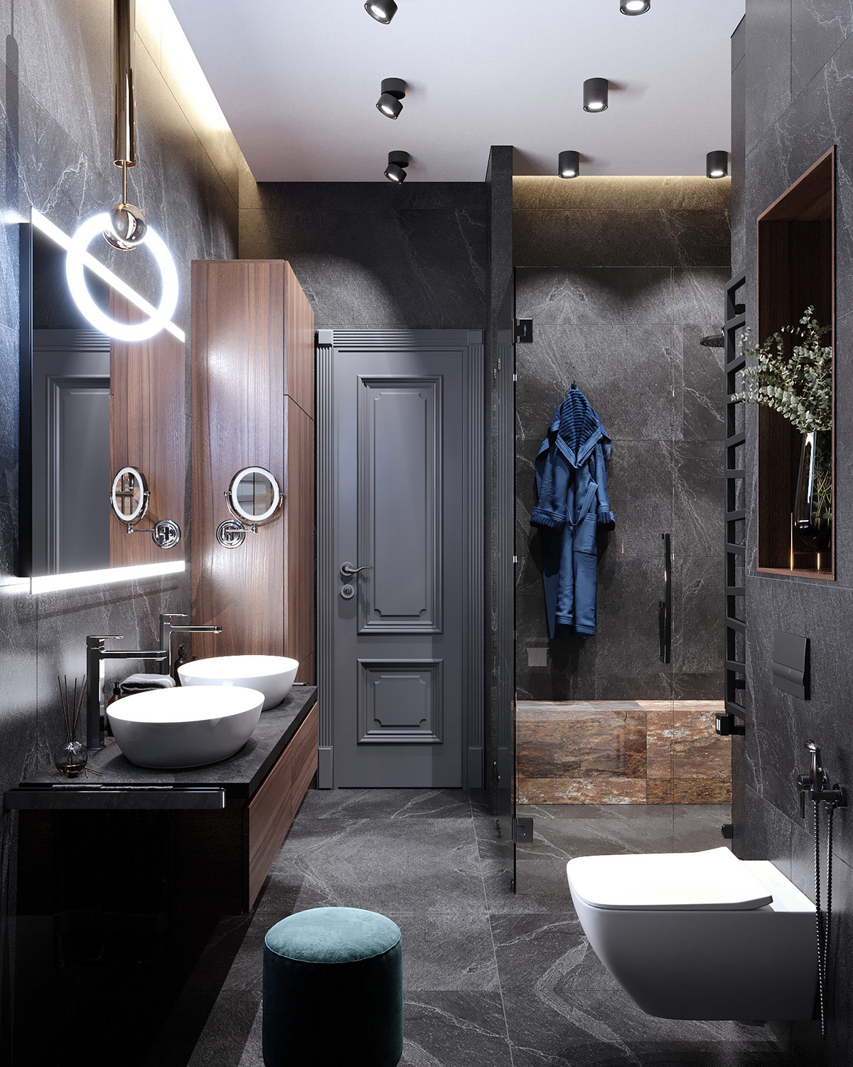 grey-bathroom-decor - Awesome Decors