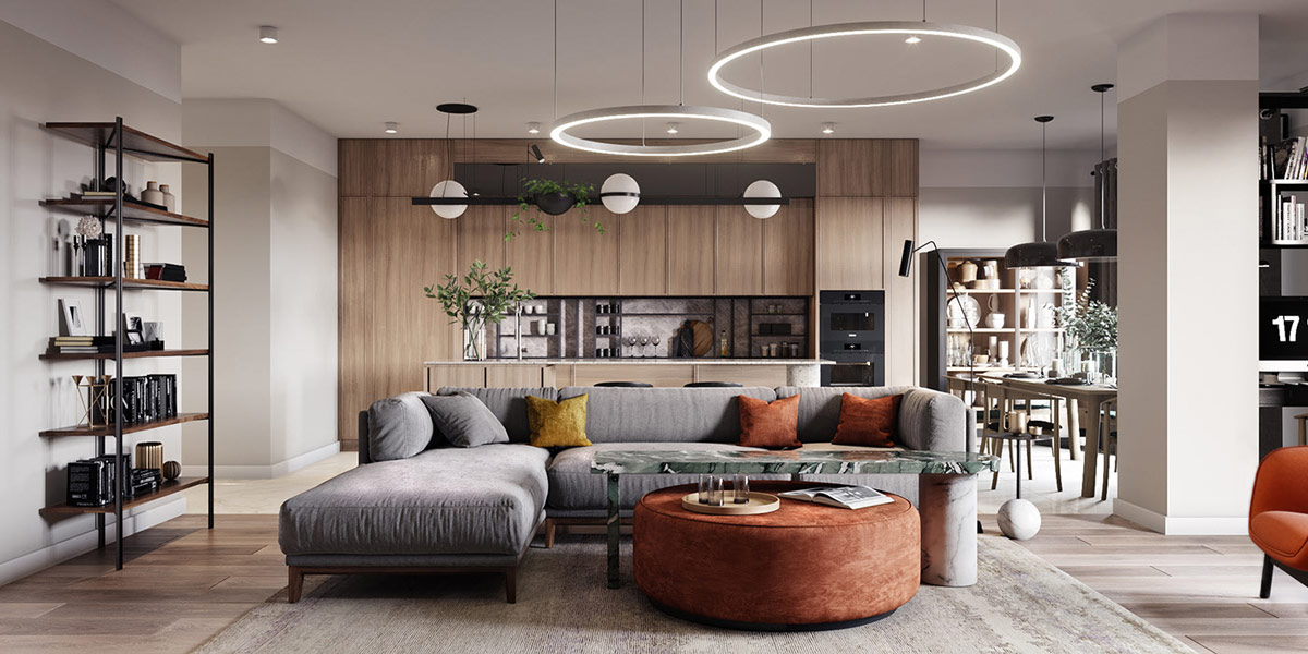 Excellent 2 Apartments Under 120 Square Meters 1300 Square Feet With Andrewgaddart Wooden Chair Designs For Living Room Andrewgaddartcom