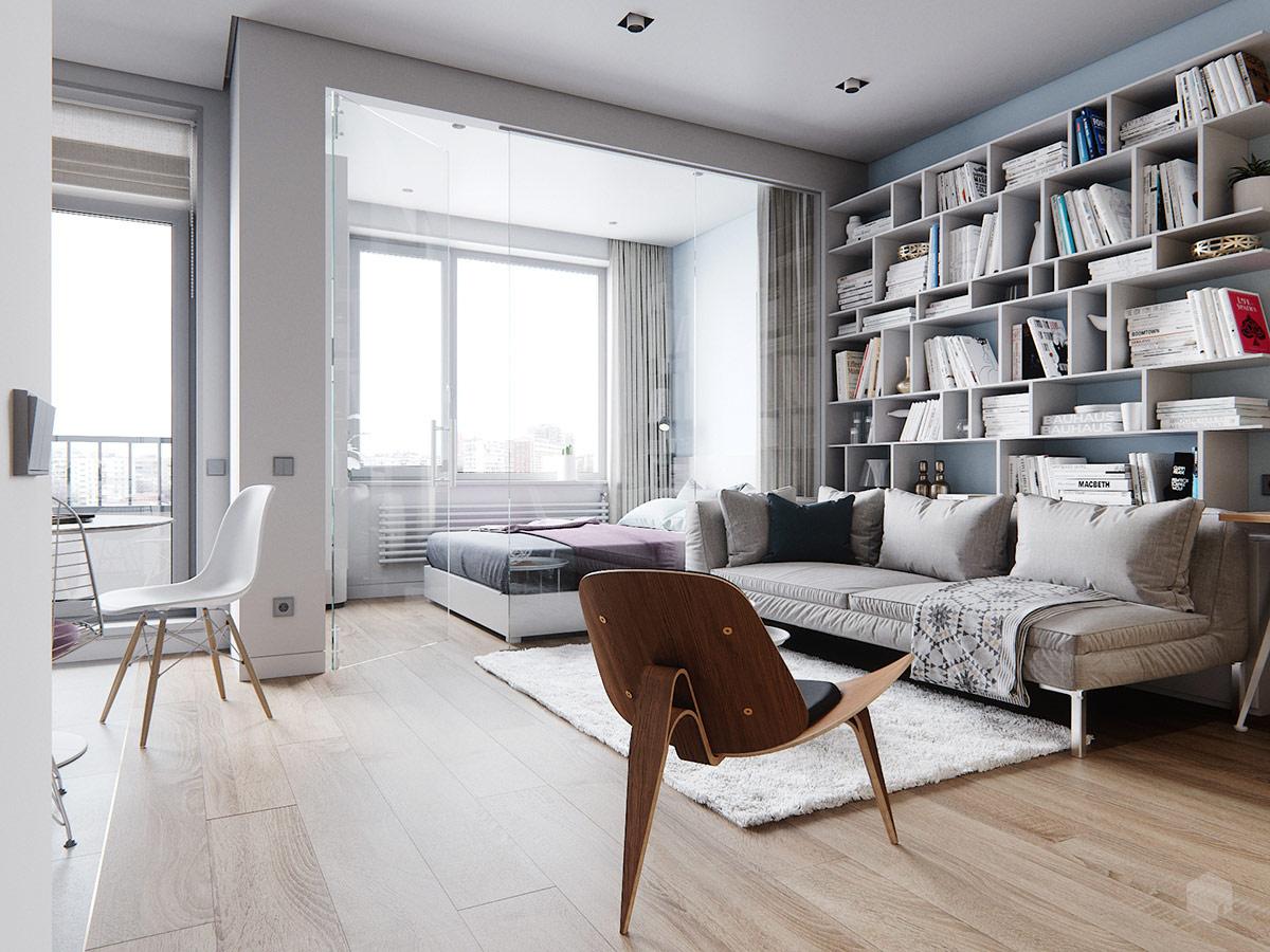 3 Small Space Apartment Interiors Under 50 Square Meters
