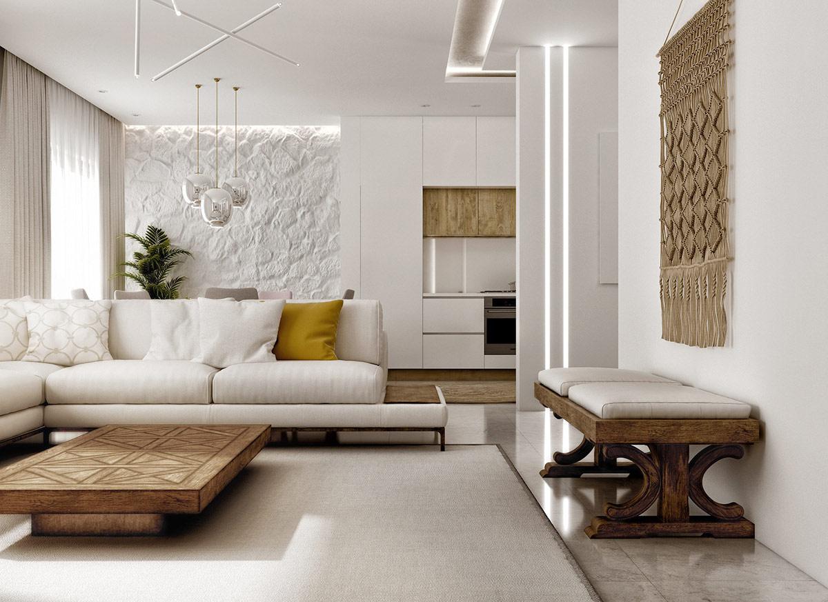 white-L-shaped-sofa