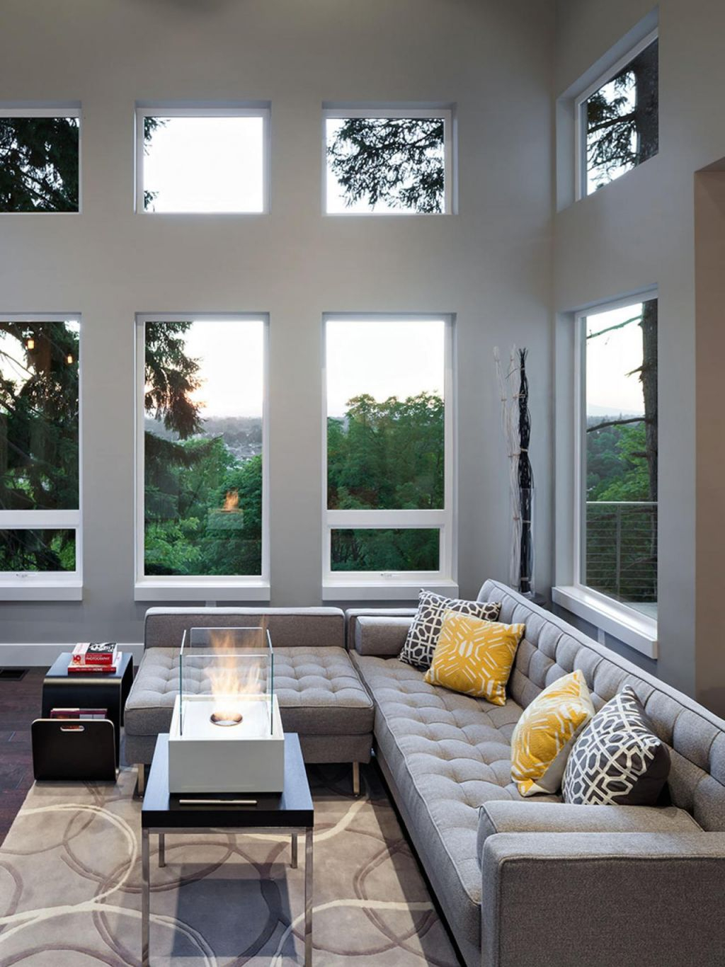 12 Living Room Ideas For A Grey Sectional | Hgtv's Decorating in Beautiful Modern Living Room Furniture Ideas