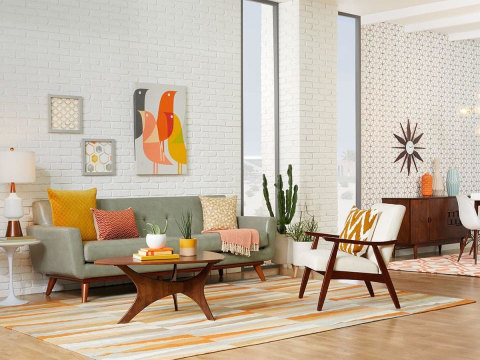 20 Mid-Century Modern Living Room Ideas | Overstock throughout Modern Living Room Furniture Ideas