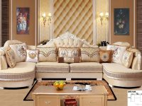 2019 Modern Living Room Fabric Sofa L Shape Sectional Soft within Living Room Furniture Sets
