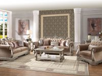 Acme Furniture Northville Antique Champagne 3Pc Living Room Set with Living Room Furniture Sets
