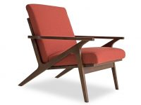 Adalyn Mid-Century Modern Accent Chair In Red Orange with regard to Mid Century Modern Furniture