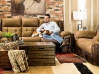 Alpine Reclining Sofa & Loveseat – Home Zone Furniture   Living Room inside Unique Living Room Furniture Sets