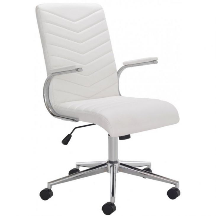 Baresi Executive White Leather Office Chair with regard to White Leather Office Chair
