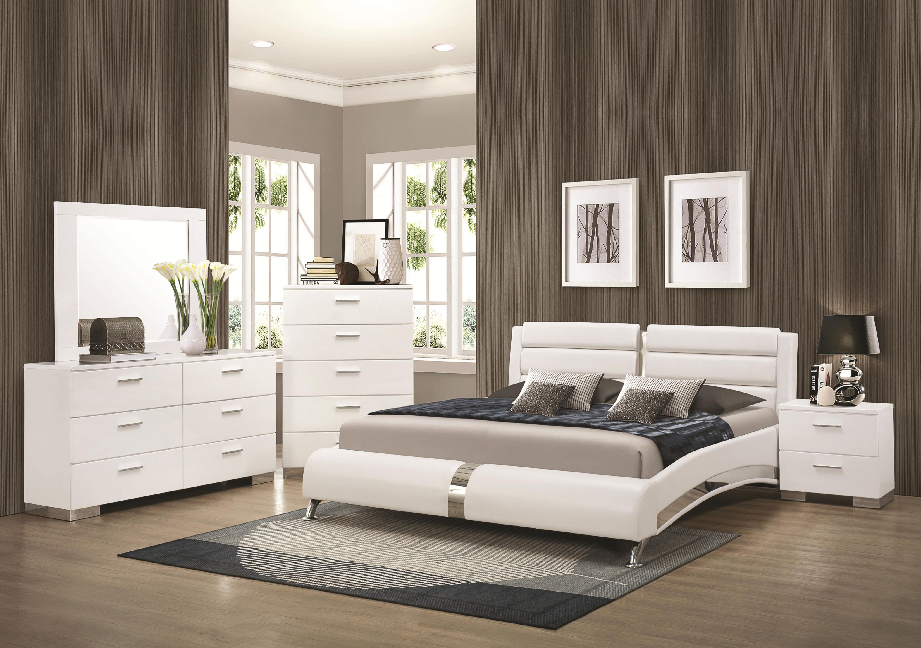 Beds, Co Furniture - Contemporary Bedroom Suite Co 300345 | with regard to Contemporary Bedroom Sets