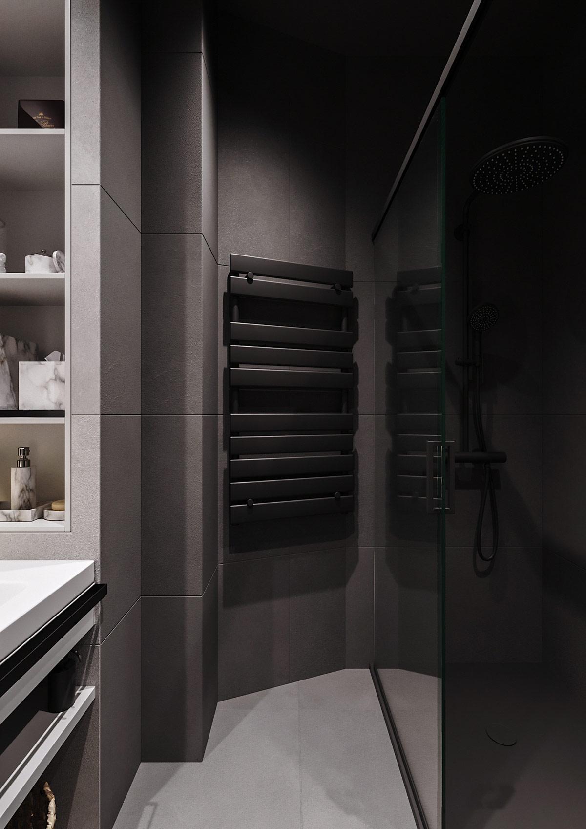 black-heated-towel-rail