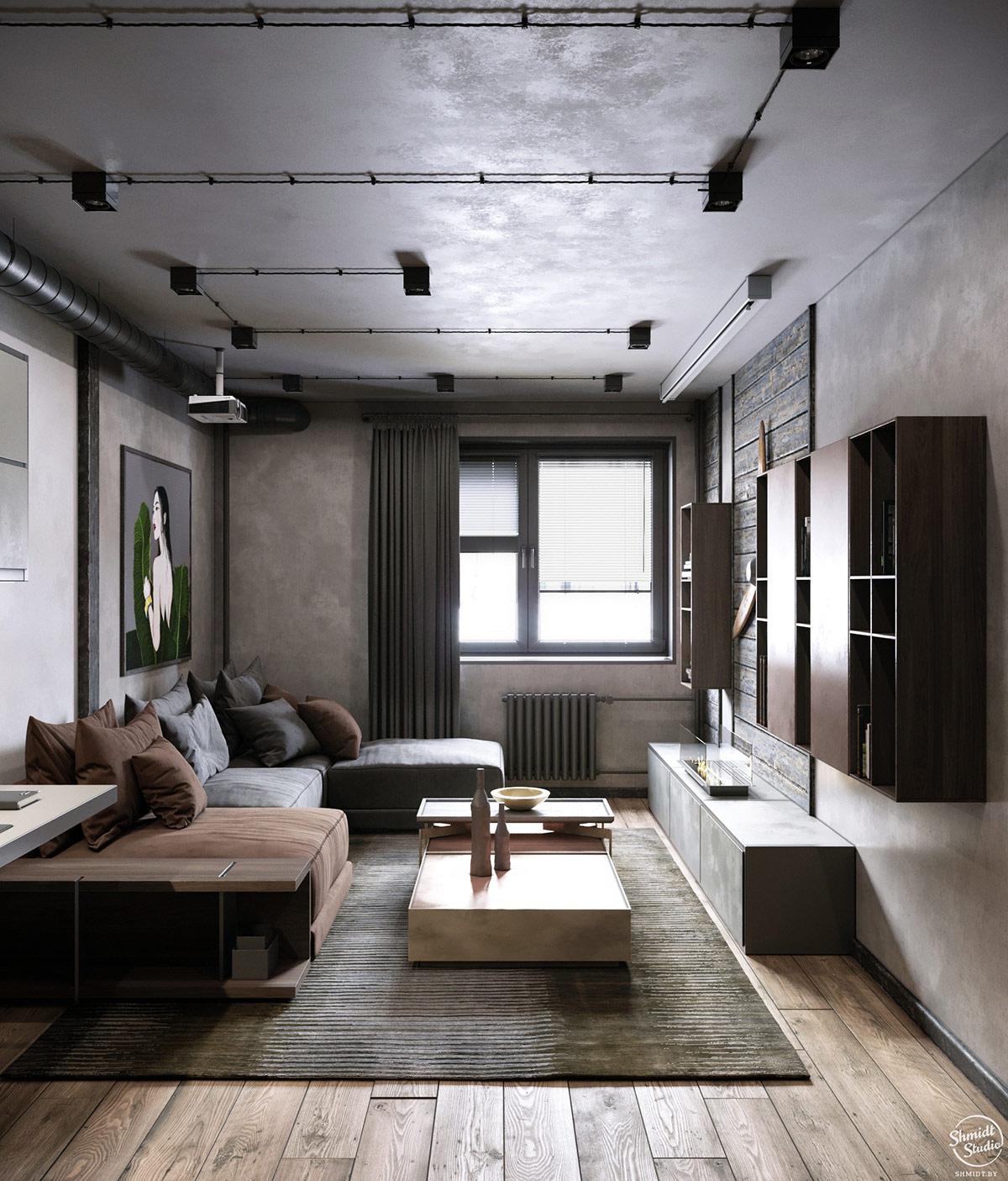brown-and-grey-sofa