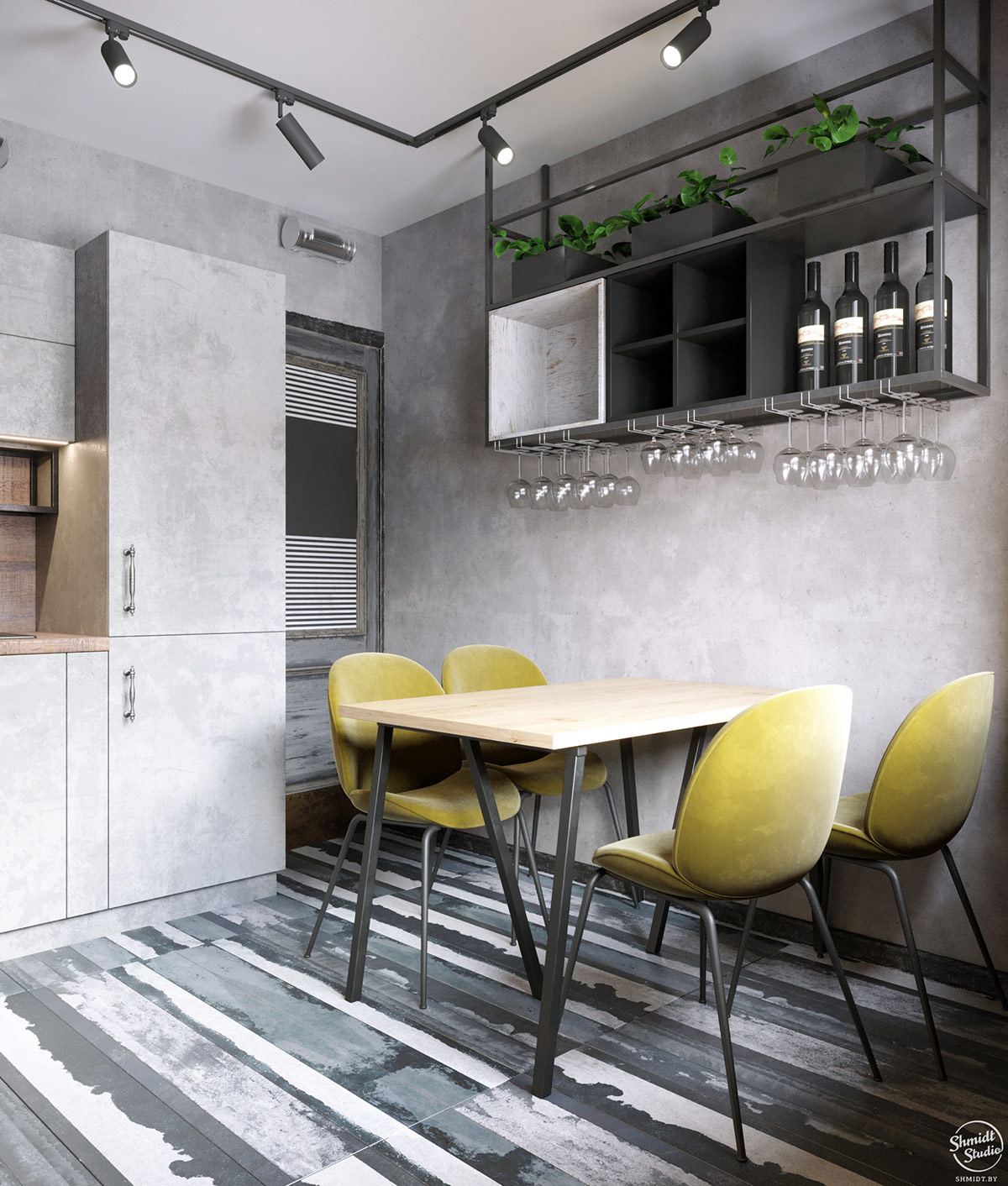 chartreuse-dining-chairs