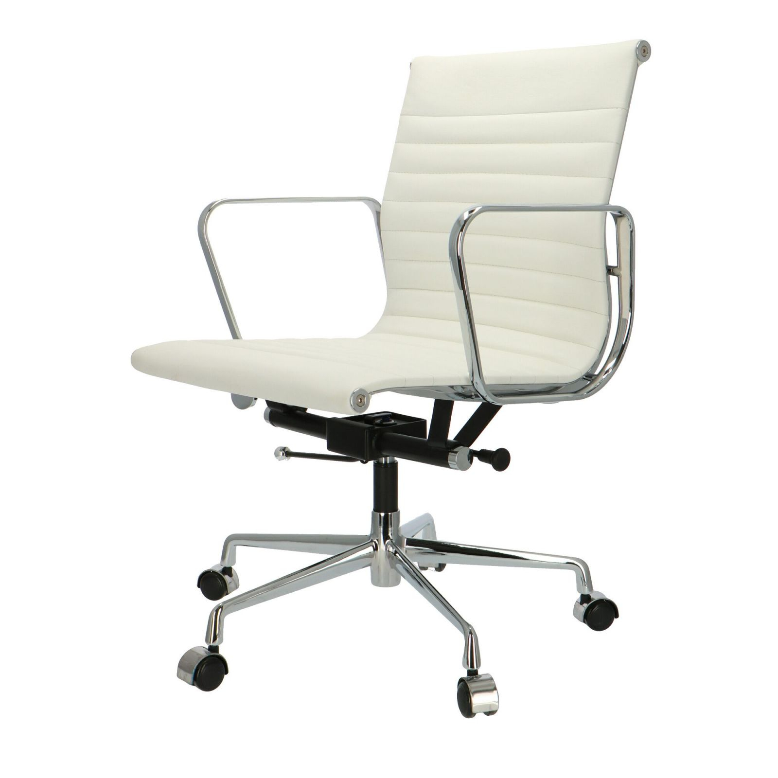 Classy Office Chair 117 White Leather | Furny inside Elegant White Leather Office Chair
