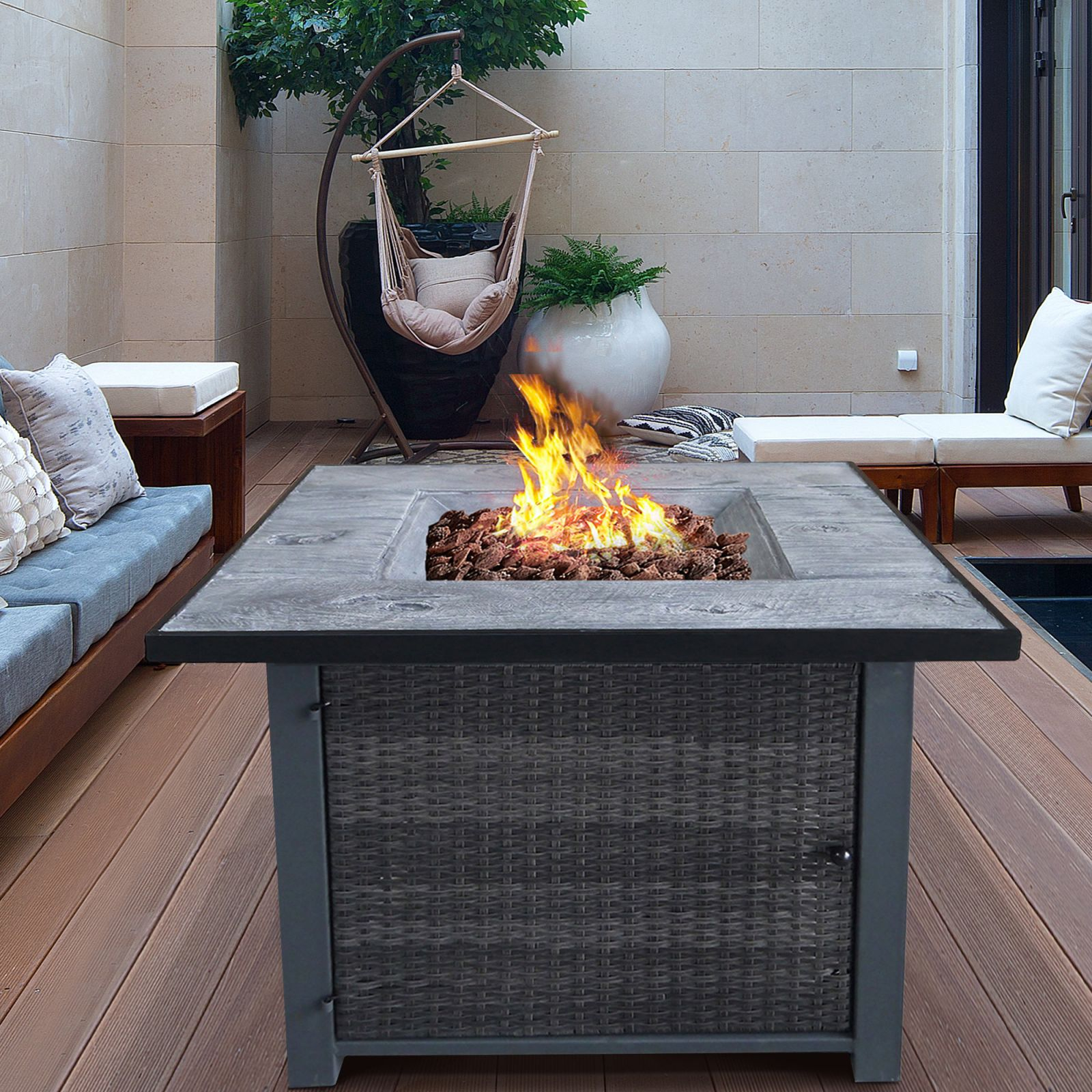 Cloud Mountain Inc. Steel Propane Fire Pit Table | Wayfair pertaining to Lovely Outdoor Propane Fire Pit