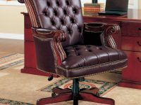 Coaster Office Chairs 800142 Traditional Leather Executive Chair pertaining to New Executive Office Chair