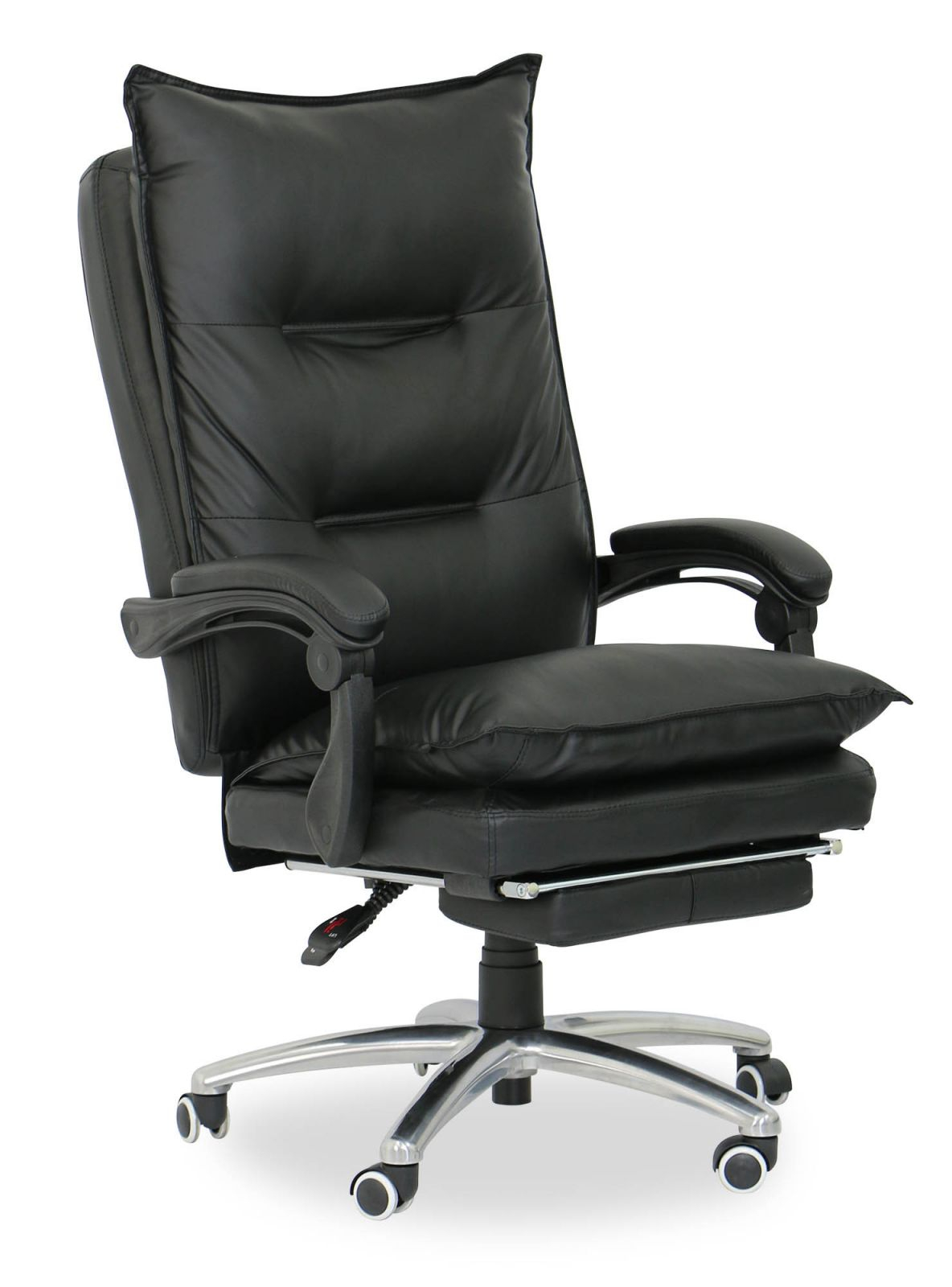 Deluxe Pu Executive Office Chair (Black) - Office Chairs - Study throughout New Executive Office Chair