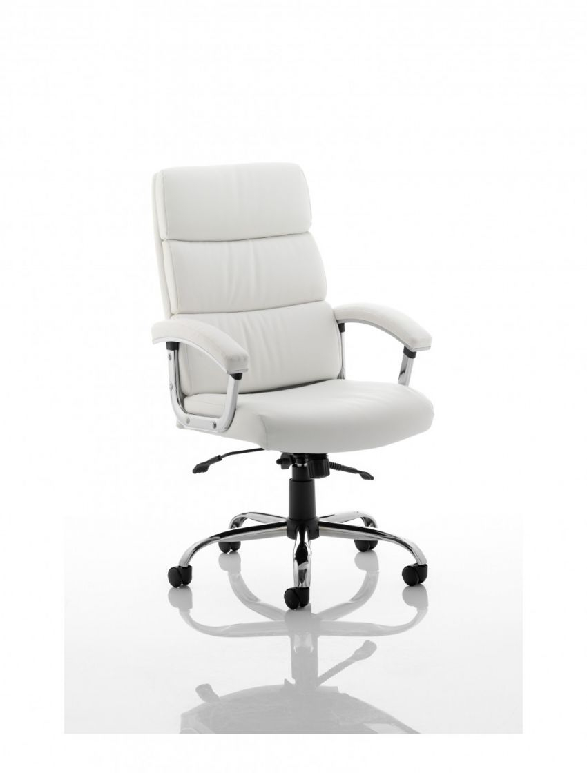 Dynamic Desire Executive Leather Office Chair In White | 121 Office for Elegant White Leather Office Chair