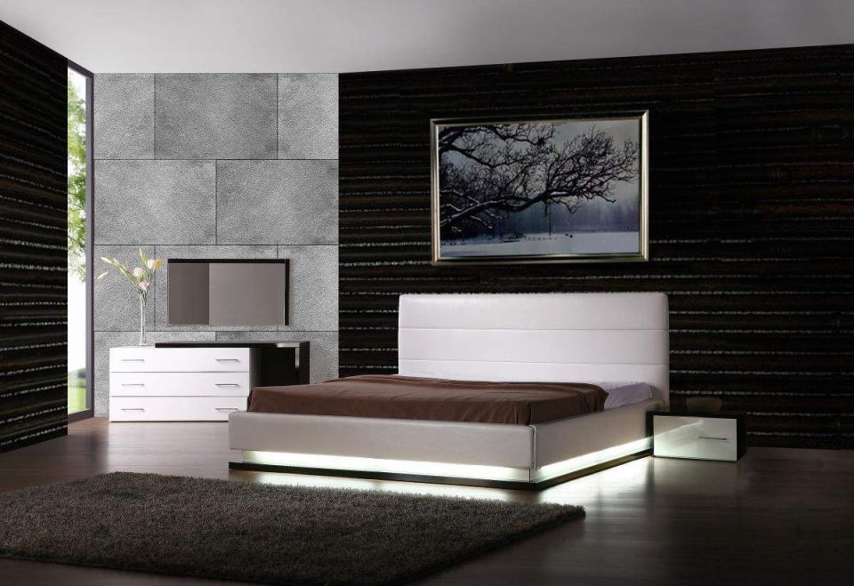 Exotic Leather Modern Contemporary Bedroom Sets Feat Light Jersey intended for Contemporary Bedroom Sets