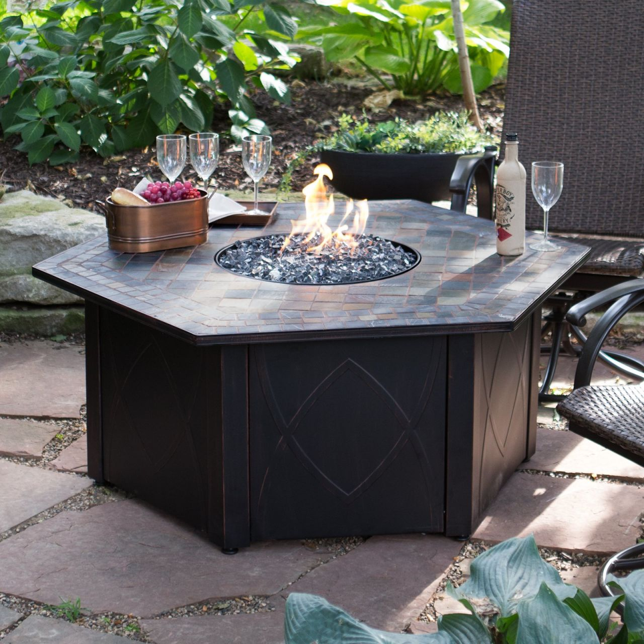 Gas Outdoor Fire Pit Also Add Fire Rings For  Also Add Round intended for Lovely Outdoor Propane Fire Pit