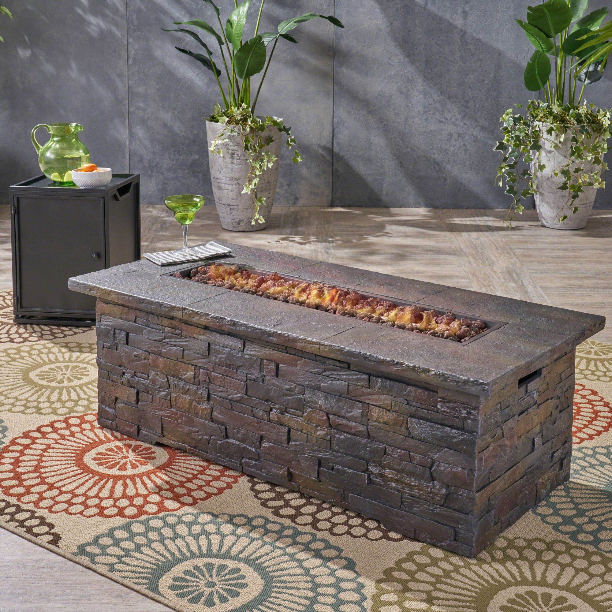 Home Loft Concepts Ritchie Outdoor Concrete Propane Fire Pit intended for Lovely Outdoor Propane Fire Pit