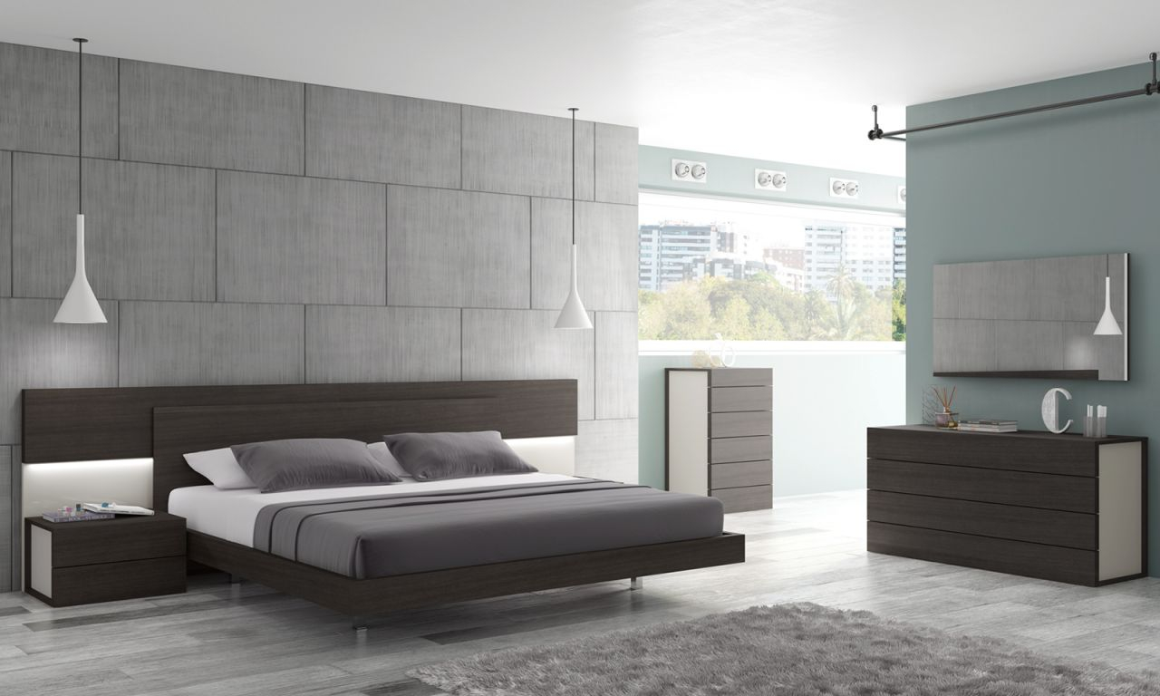 Lighted Headboard At Bedroom Furniture Discounts inside Contemporary Bedroom Sets
