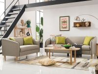 Living Room Furniture Sectional Fabric Modern Simple Wooden Sofa Set regarding Unique Living Room Furniture Sets