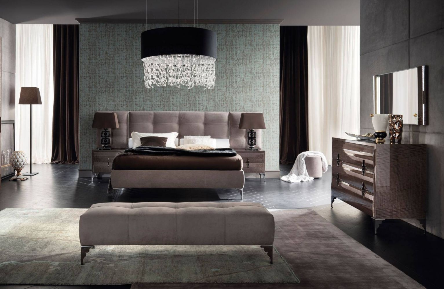 Made In Italy Leather Contemporary Master Bedroom Designs Las Vegas inside Elegant Contemporary Bedroom Sets