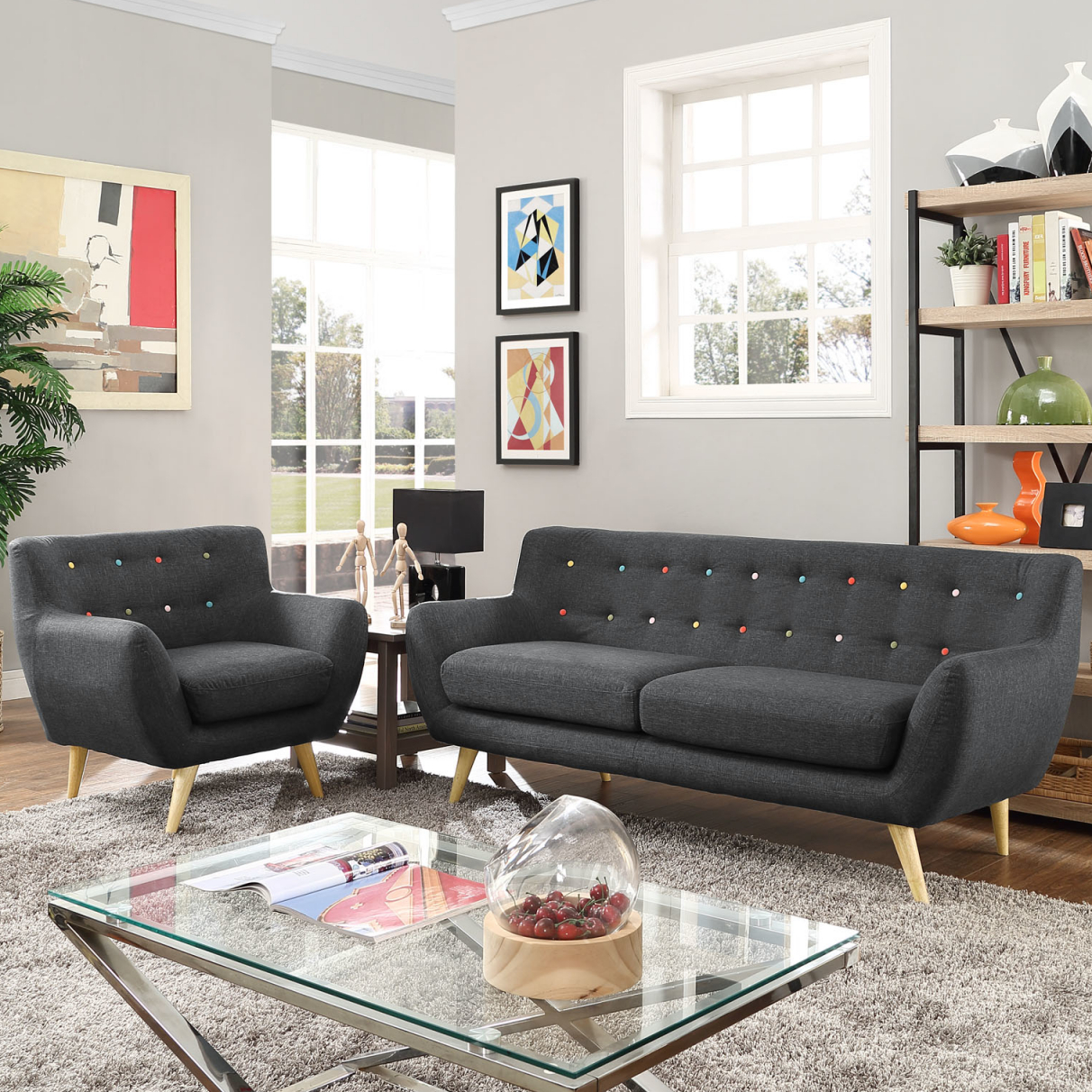 Modern & Contemporary Living Room Furniture | Allmodern in Unique Living Room Furniture Sets