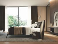 Modern Italian Bedroom Set Includes Bed And Two Night Tables, Wood for Awesome Italian Modern Bedroom Furniture