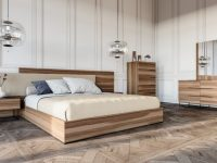 Nova Domus Matteo Italian Modern Walnut & Fabric Bedroom Set within Awesome Italian Modern Bedroom Furniture