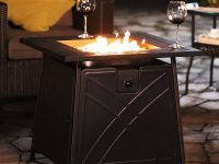 Outdoor Propane Fire Pit Table Patio Heater Gas – 28 Inch Square – regarding Lovely Outdoor Propane Fire Pit