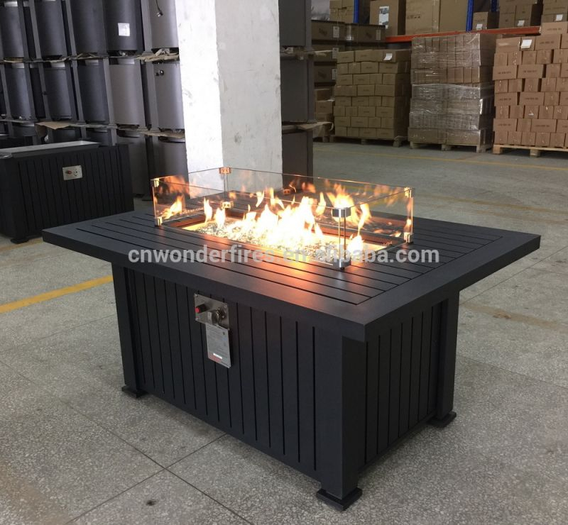 Outdoor Rectangle Gas Fire Pit,propane Fire Pit Tables,5,5000 Btu inside Lovely Outdoor Propane Fire Pit