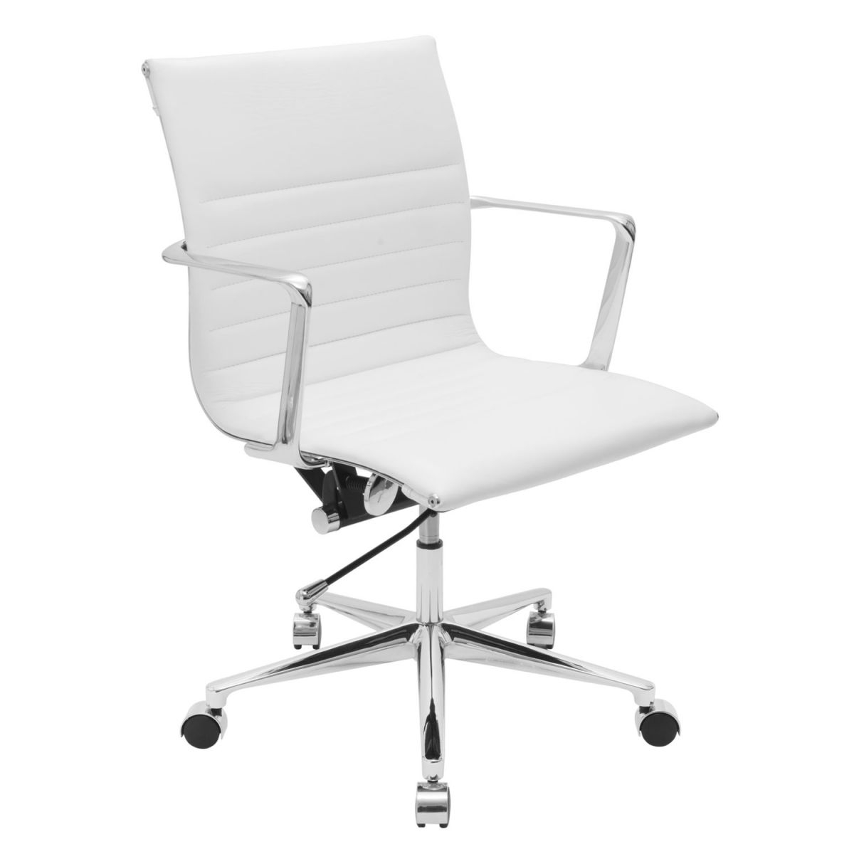 Real Leather Office Chair White within White Leather Office Chair