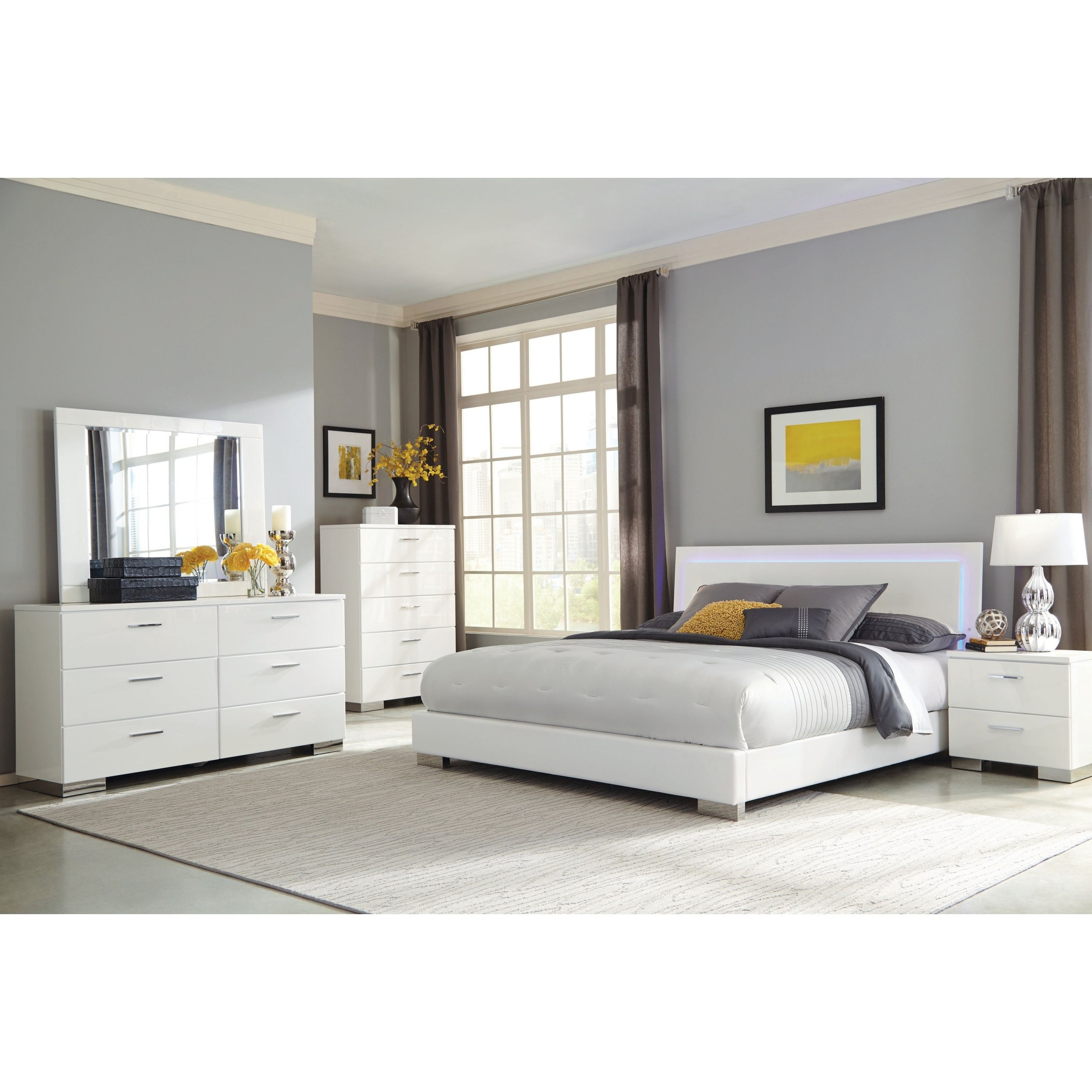 Shop Strick & Bolton Alice White 5-Piece Bedroom Set – On throughout Elegant Contemporary Bedroom Sets