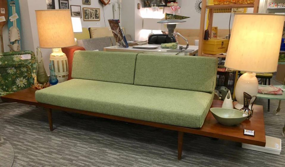Brilliant The Mesa Mid Century Platform Sofa With Side Tables Loft Pdpeps Interior Chair Design Pdpepsorg