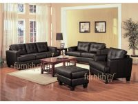 Ukachi Modern Living Room Furniture Set (3+2+1 Leather Sofa Set + with Living Room Furniture Sets