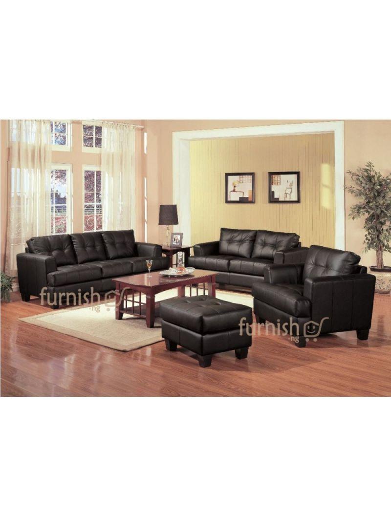 Ukachi Modern Living Room Furniture Set (3+2+1 Leather Sofa Set + with Living Room Furniture Sets