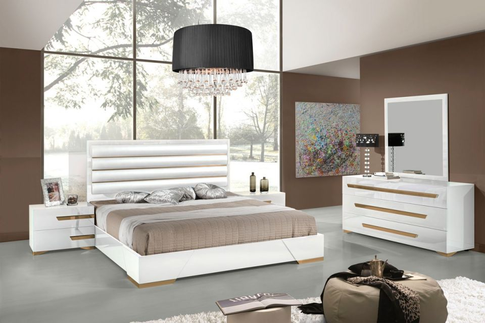 Vig Furniture 5Pc Queen Bedroom Set #vgacjuliet | Hot Sectionals with Italian Modern Bedroom Furniture