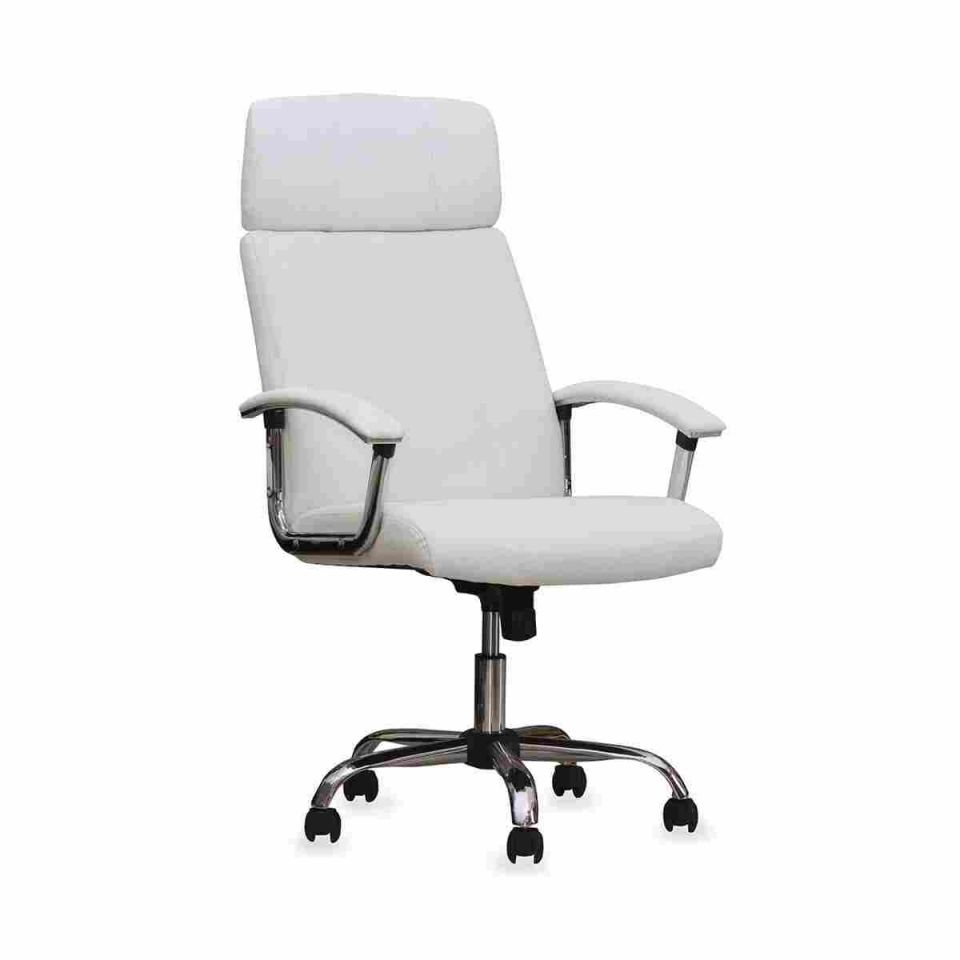 White Leather Office Chair – Daniel Suarez with White Leather Office Chair