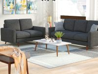 Wrought Studio Macsen 2 Piece Living Room Set & Reviews | Wayfair for Unique Living Room Furniture Sets