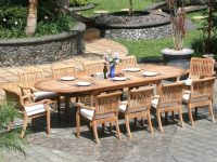 11 Piece Grade-A Teak Dining Set – Large Oval Table And Stacking Arm throughout Beautiful Teak Outdoor Furniture Set