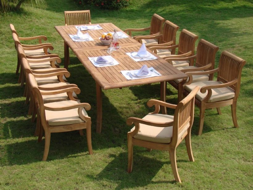 13 Piece Luxurious Grade-A Teak Dining Set Review – Teak Patio regarding Teak Outdoor Furniture Set