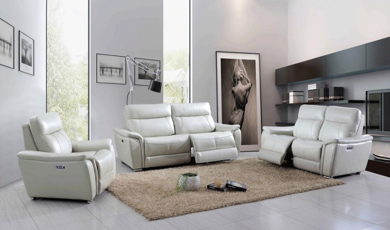1705 Leather/eco-Leather Living Room Set W/recliner within Awesome Leather Living Room Sets