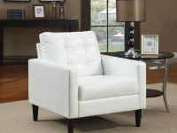 37 White Modern Accent Chairs For The Living Room throughout Best of Living Room Furniture Accent Chairs