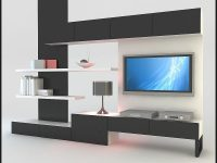 3D Model Modern Design Tv Wall Unit With Bookshelf Furniture Ideas within Lovely Modern Living Room Tv Wall