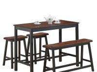 4 Pcs Solid Wood Counter Height Dining Table Set with regard to Best of Dining Table Set