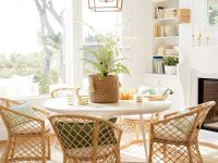 60-Inch-Modern-Round-White-Dining-Table-Light-X-Base-Style-Furniture