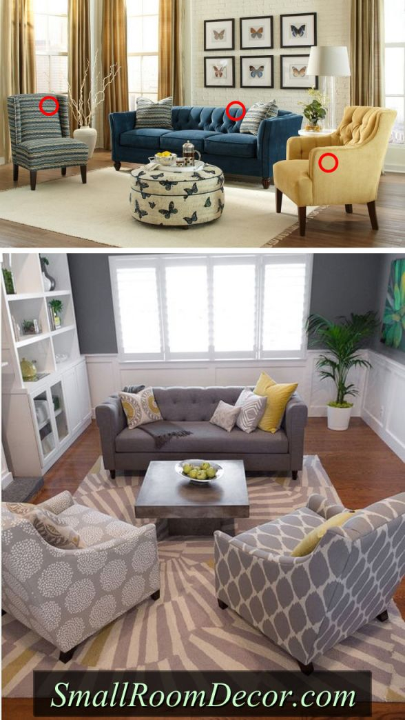 7 Couch Placement Ideas For A Small Living Room for Awesome Chair Living Room Furniture